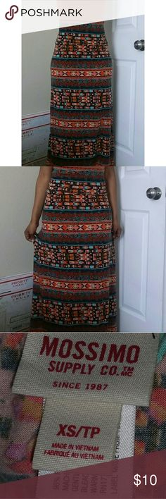 Mossimo Supply Co. | Maxi Skirt with Patterns Condition : Great. /  Feel free to make an offer. / No trades. / PLEASE don't advertise your closet.  / Mossimo Supply Co. Skirts Maxi