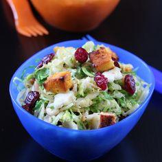 Brussels Sprouts Paneer Salad, featuring Greek yogurt!