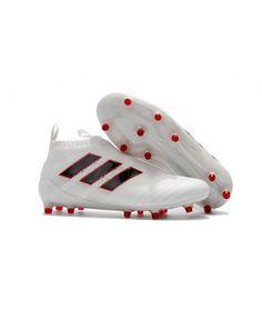 Adidas ACE 17 Purecontrol Firm Ground Hvit Svart Rød