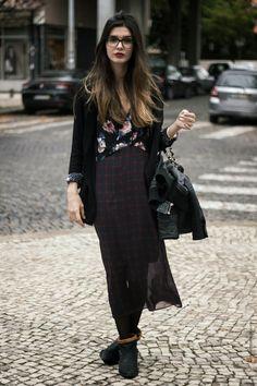 La Coquette Miseráble Outfit // Zara Dress // Tartan // Flowers