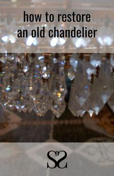 New Life for an Old Chandelier — Self Styled Self Styled, Antique Chandelier, New Life, Restore, Restoration, Antiques, Blog, Old Chandelier, Antiquities