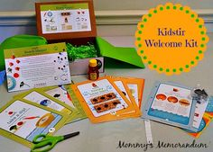 Thanks Mommy's Memorandum for a great review of the Kidstir experience. Keep cooking up fun!