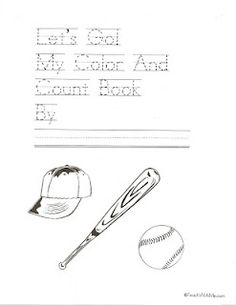 Let's Go! Count and Color Baseball Booklet
