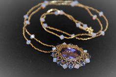 Purple Necklace Tanzanite Pendant Necklace by BettyGlamJewelry