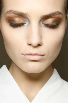Love the eye make-up at Gianfranco Ferre S/S '13