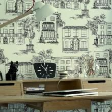 Wallpaper Direct offers a range of Little Greene wallpapers from the Line Papers Wallpaper Collection Old Campers, Little Greene, Vintage Caravans, Paper Wallpaper, Paint Colours, Tent Camping, Farm House, Vintage Designs, Decoupage