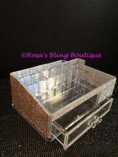 Bling acrylic makeup organizer by Rosasblingboutique on Etsy  Every woman deserves this beautiful case!