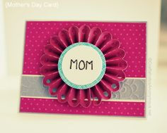 DIY Mother's Day card. Find more homemade card ideas at diyready.com.