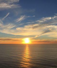 Big Sur orange sunset