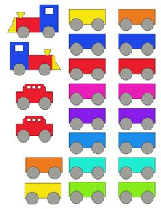 Printable Train Cut Outs for Folder Game, Decorations, Alpahbet - Free Printable Fun for Everyone