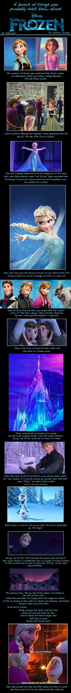 A bunch of stuff you probably didn't know about Frozen. Some of this stuff I knew but who could resist some more Frozen fun facts :) Disney Pixar, Walt Disney, Disney Facts, Disney Memes, Disney Quotes, Disney And Dreamworks, Disney Love, Disney Magic, Disney Characters