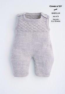 jumpsuit pattern Free knitting pattern Modèle Combinaison Cheval Blanc - Patron tricot gratuit - Jumpsuits and Romper Baby Knitting Patterns, Baby Boy Knitting, Knitting For Kids, Baby Patterns, Free Knitting, Baby Knits, Loom Knitting, Knitting Projects, Stitch Patterns