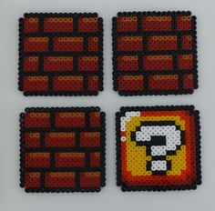 Etsy - Shop for handmade, vintage, custom, and unique gifts for everyone Perler Beads, Fuse Beads, Hama Beads Mario, Perler Bead Mario, Pearler Bead Patterns, Perler Patterns, Pixel Art Mario, Geek Mode, Arte Nerd