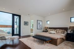 Pardee Properties - Master Bedroom With Private Balcony in Stunning Santa Monica Home