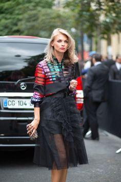 Fashion Week Street Style #Pariscouture week Fall 2015