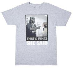 Star Wars - Darth Vader That's What She Said - T-Shirt (Medium) Mighty Fine,http://smile.amazon.com/dp/B00GJVFAA4/ref=cm_sw_r_pi_dp_z4Wxtb1A9PPDXGFQ