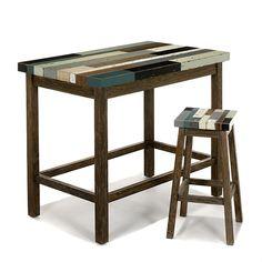 Manaka Table haute - bar rectangulaire - L130cm                                                                                                                                                                                 Plus