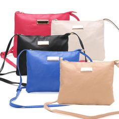 Women New Bags Cross Body Messenger Bag Hand Bag With Pure Color Simple Design