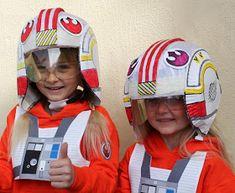 Filth Wizardry: Kid's DIY Star Wars X-wing fighter pilot's helmet