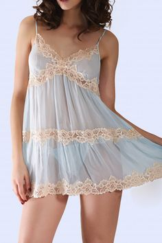 Shop sleepwear and Pajamas at Mystique Intimates! Our selection of sleepwear includes Bridal and Special Occasion, Plus Sizes, Loungewear…free US shipping Teen Lingerie, Pretty Lingerie, Vintage Lingerie, Pijamas Women, Cute Sleepwear, Night Dress For Women, Sheer Dress, Crossdressers, Sexy Outfits