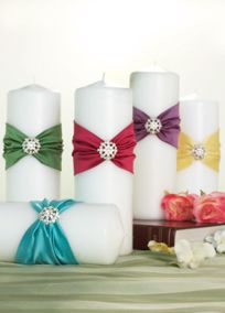 Decorative Ceremony Candles by David's Bridal (the one in plum was our unity candle)