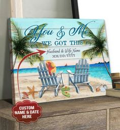 Canvas Poster, Beach Scenes, Custom Photo, Canvas Material, Picture Wall, 5 Years, Cotton Canvas, Solid Wood