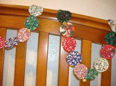 Christmas YoYo Garland  10 Feet with Bells by recycledyoyos, $22.50