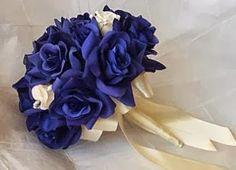 ramos de novias blancos con azul - Buscar con Google