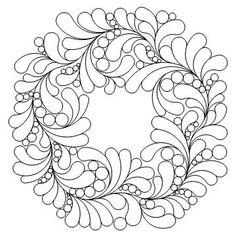Debs Applique Wreath-L01641*