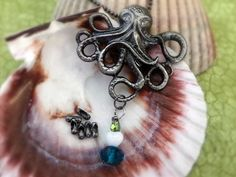 Oh King Kraken, you're so fly. Come over here. :D NEW Octopus Necklace in Antique Gunmetal by ZodiacGirls, $10.99