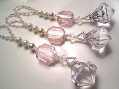 Set of 3 Christmas Ornaments  Diamond Dangles by magicaljourneys, $12.00