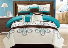 Off White Turquoise Brown 7 Pcs Embroidery Comforter Bedd... https://smile.amazon.com/dp/B01EO64FV0/ref=cm_sw_r_pi_dp_CB4wxbZBDKKHC