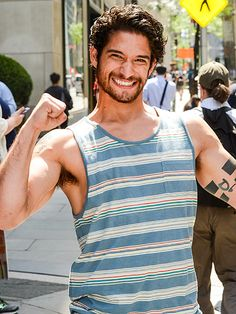Star Tracks: Monday, June 29, 2015 | NAILED IT!  | Tyler Posey celebrates a job well done promoting Teen Wolf's fifth season as he leaves the Today show in N.Y.C.