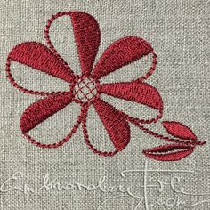 Blossoms from Lüganuse embroidery III