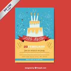 Hand drawn party poster Free Vector