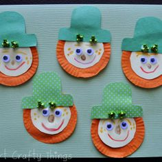 Cupcake Liner Leprechaun Beards are a classic St. Patrick's Day craft! We're obsessed!