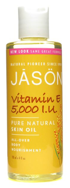 Original Pinner says: JASON Vitamin E Oil ~ I use this from head to toe. A drop in my hair tames frizz. All over body is so much better than lotion. I even use a little on my face under make up... It makes my make up look smoother. I apply before bed and in the morning as a moisturizer. It absorbs quickly and is non greasy.
