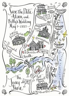 New Jersey Bride Custom Wedding Maps