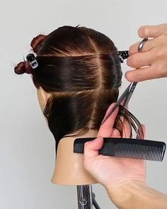 """These new pixie and bob haircuts that have become the """"calling card"""" of Jennifer Aniston, Rihanna Demi Moore, and other Hair Cutting Videos, Hair Cutting Techniques, Hair Color Techniques, Hair Videos, Cutting Hair, Hair Cut Guide, Short Hair Cuts, Short Hair Styles, How To Cut Your Own Hair"""