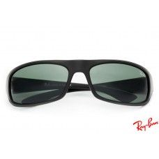 RayBans RB4176 Active Lifestyle sunglasses with black frame and green lenses