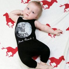 To The Moon and Back! Printed onesie