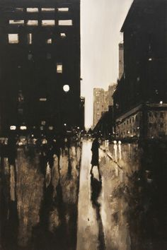 "Geoffrey Johnson, ""43rd and Madison"" - 27x18, Oil on Panel -- at Principle Gallery in Charleston"
