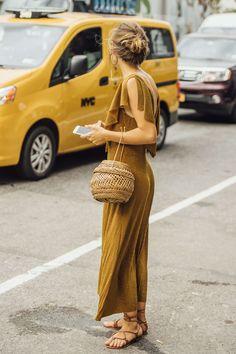 September 9, 2016 Tags Brown, Gold, Women, Metallic, Flats, Dresses, Earrings, Bags, New York, Sandals, Woven, Jenny Walton, Ribbed, 1 Person, Buns, SS17 Women's