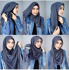 New how to wear pashminas hijab style ideas Hijab Casual, Hijab Outfit, Stylish Hijab, Hijab Chic, Hijab Dress, Casual Outfits, Turban Hijab, Swag Dress, Simple Hijab Tutorial