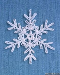 Martha Stewart Snowflake free crochet pattern - Free Crochet Snowflake Patterns - The Lavender Chair