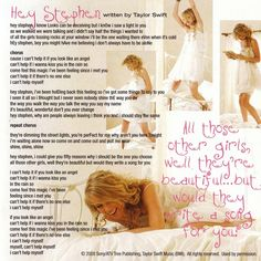 8 Hey Stephen Ideas Taylor Swift Songs Taylor Swift Taylor Swift Lyrics