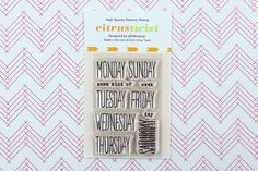 "Citrus Twist Kits ""Days of the Week"" Stamp Set- perfect for planners and pocket pages. $5"