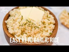 Cozy, Comforting Keto Garlic Rice Made In A Rice Cooker (Easy Keto Recipe) - Keto Comfort Foods - YouTube Rice Recipes, Keto Recipes, Keto Cauliflower, Rice Cooker, Comfort Foods, Garlic, Cozy, Youtube, Youtubers