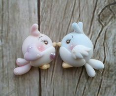 Polymer Clay Animals, Polymer Clay Dolls, Polymer Clay Projects, Polymer Clay Charms, Polymer Clay Jewelry, Clay Crafts, Cartoon Cookie, Clay Magnets, Cute Clay