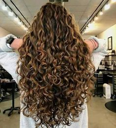 Dyed Curly Hair, Curly Hair Styles, Colored Curly Hair, Curly Wigs, Curly Perm, Brown Curly Hair, Curly Long Hair Cuts, Permed Long Hair, Blonde Curly Hair Natural